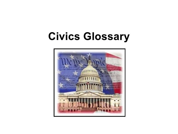 Civics Glossary