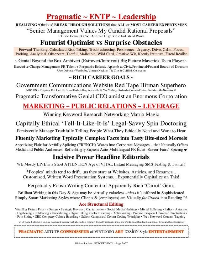 Resume power words leadership
