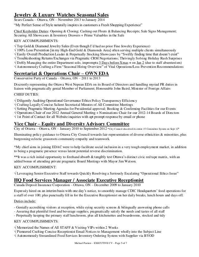 MICHAEL PASTIEN - EXECUTIVE CV