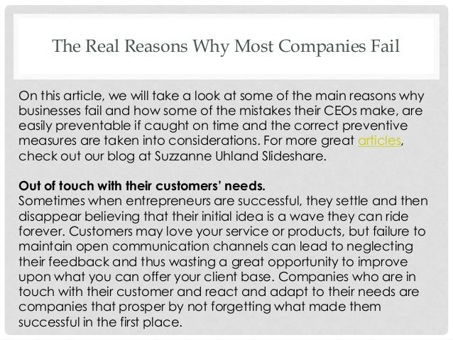 reasons why businesses fail pdf