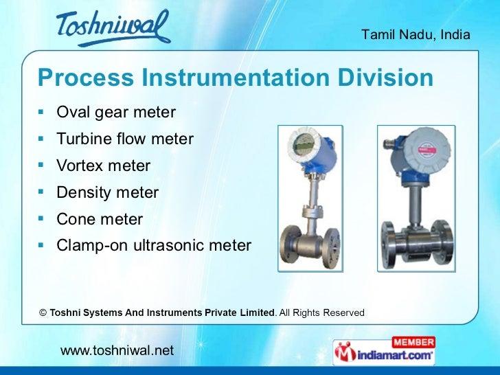 Process Instrumentation Division <ul><li>Oval gear meter </li></ul><ul><li>Turbine flow meter </li></ul><ul><li>Vortex met...