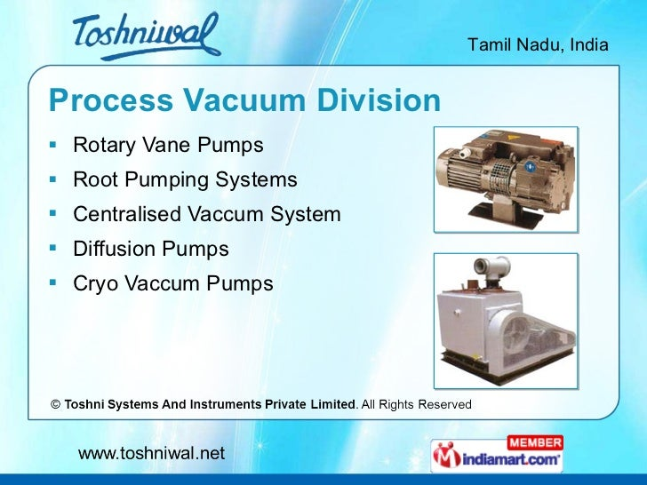 Process Vacuum Division <ul><li>Rotary Vane Pumps </li></ul><ul><li>Root Pumping Systems </li></ul><ul><li>Centralised Vac...