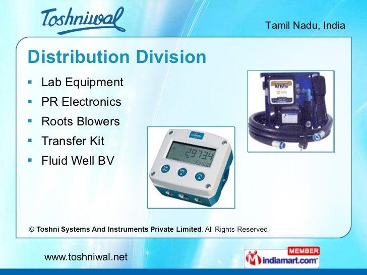 Distribution Division <ul><li>Lab Equipment </li></ul><ul><li>PR Electronics </li></ul><ul><li>Roots Blowers </li></ul><ul...