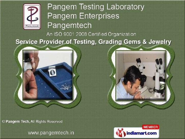 Service Provider of Testing, Grading Gems & Jewelry
