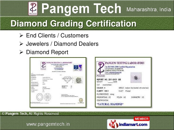 Diamond Grading Certification   End Clients / Customers   Jewelers / Diamond Dealers   Diamond Report