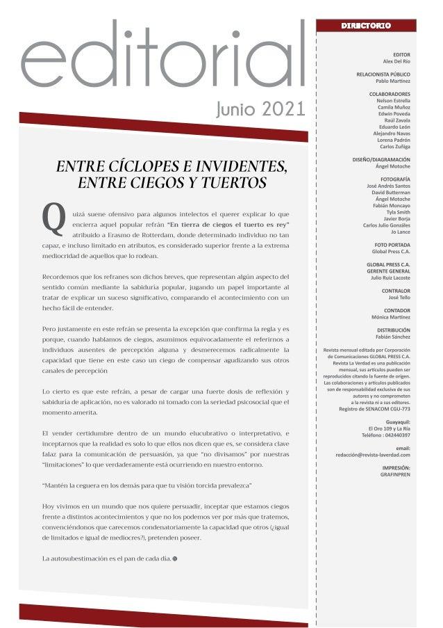 Revista La Verdad - Edición Junio 2021 Slide 3