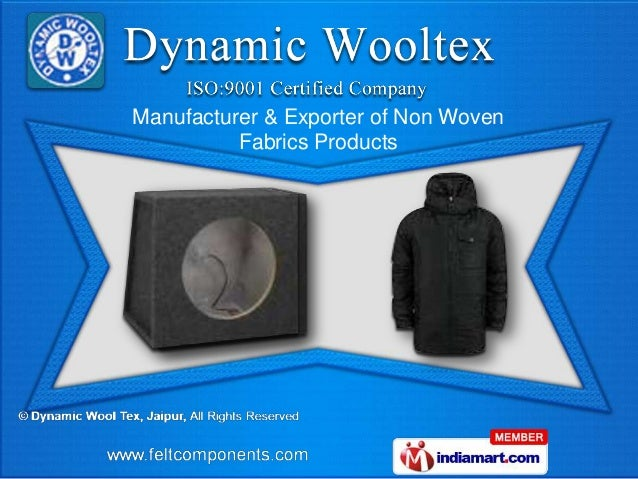 Manufacturer & Exporter of Non Woven          Fabrics Products