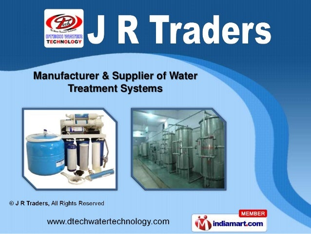 Manufacturer & Supplier of Water      Treatment Systems
