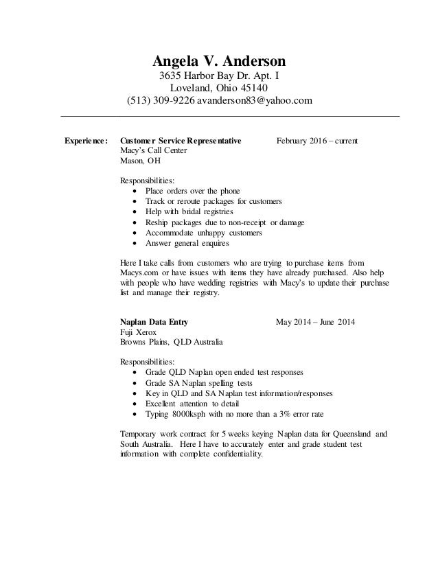 Resume cover letter usa