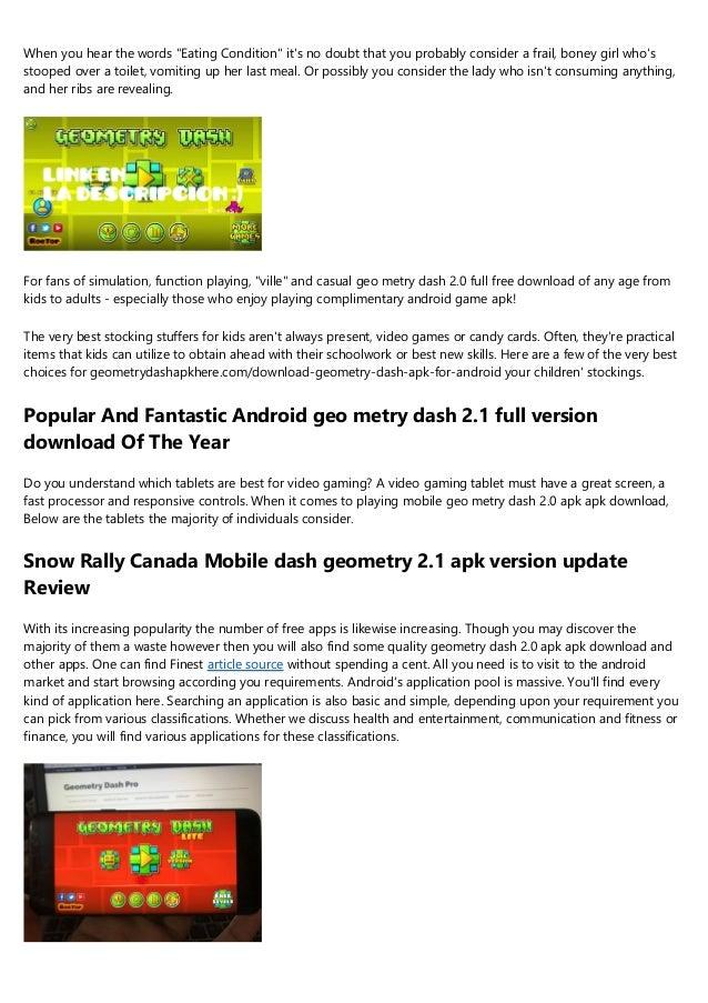 geometry dash full version apk free