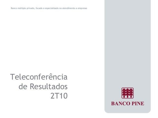Teleconferência  de Resultados  2T10