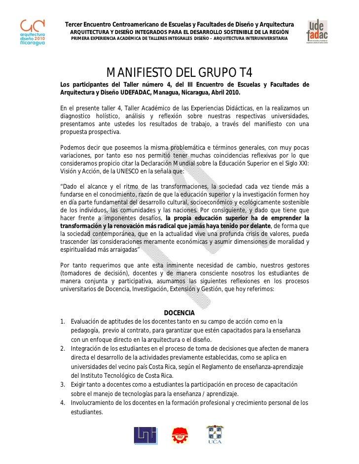 Tercer Encuentro Centroamericano de Escuelas y Facultades de Diseño y Arquitectura    ARQUITECTURA Y DISEÑO INTEGRADOS PAR...