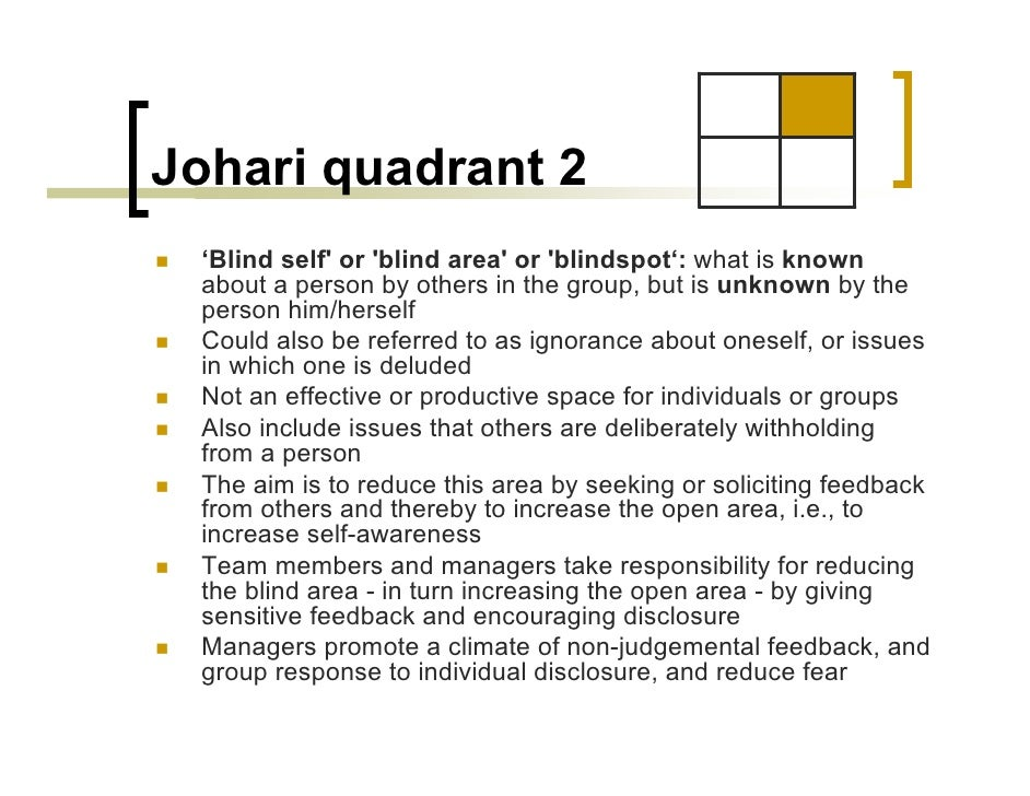 jahari window essay Joseph luft and harry ingram created the johari window technique in 1955 in the united states, used to help people better understand their mental instabili.