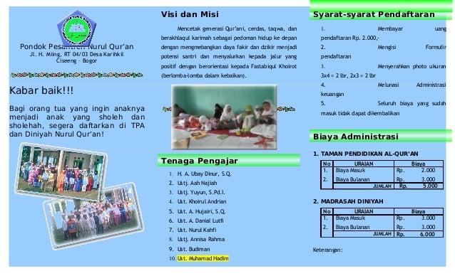 39717406 Brosur Tpa Diniyah