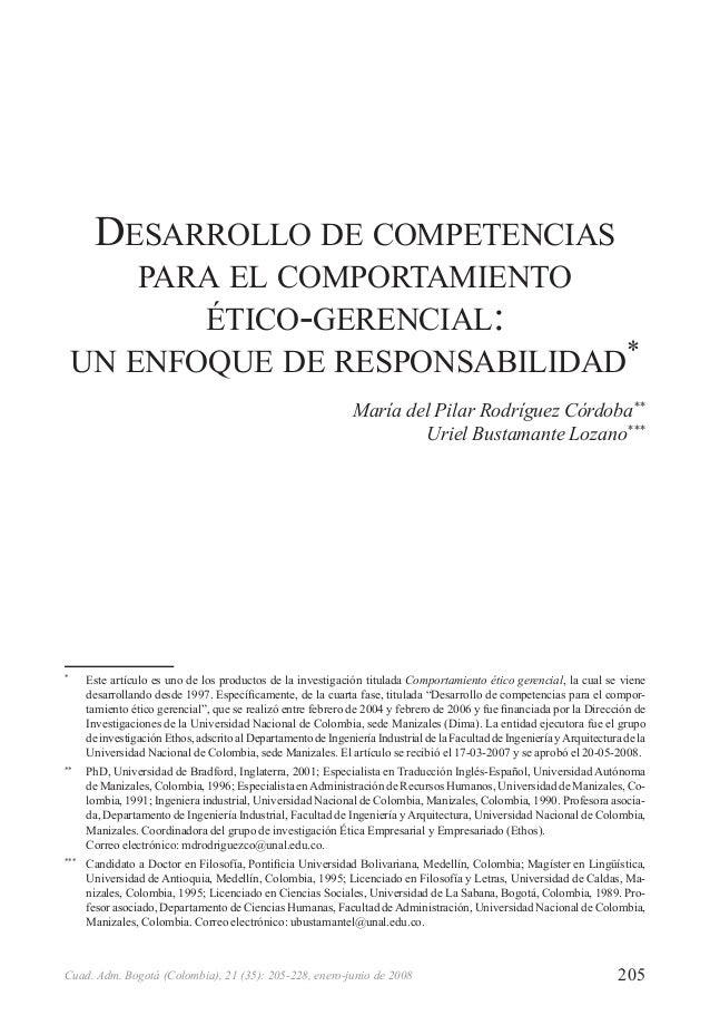 205Cuad. Adm. Bogotá (Colombia), 21 (35): 205-228, enero-junio de 2008 *  Este artículo es uno de los productos de la inv...