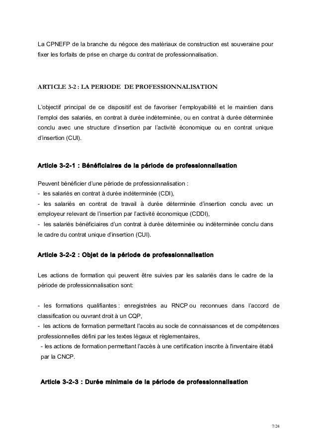 Idcc 398 533 652 accord formation professionnelle de la - Grille de salaire contrat de professionnalisation ...