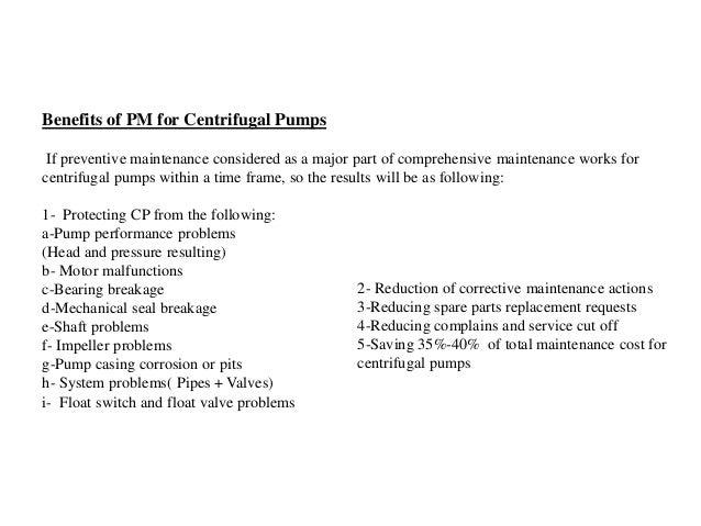 Preventive Maintenance for CP by Eng. Amer Hamdan
