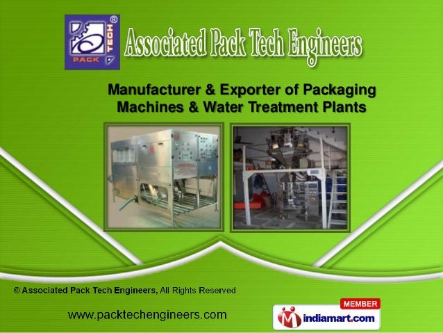 Manufacturer & Exporter of Packaging Machines & Water Treatment Plants