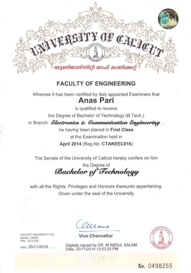 certificate engineering btech tech slideshare upcoming