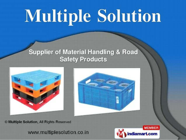 Supplier of Material Handling & Road          Safety Products