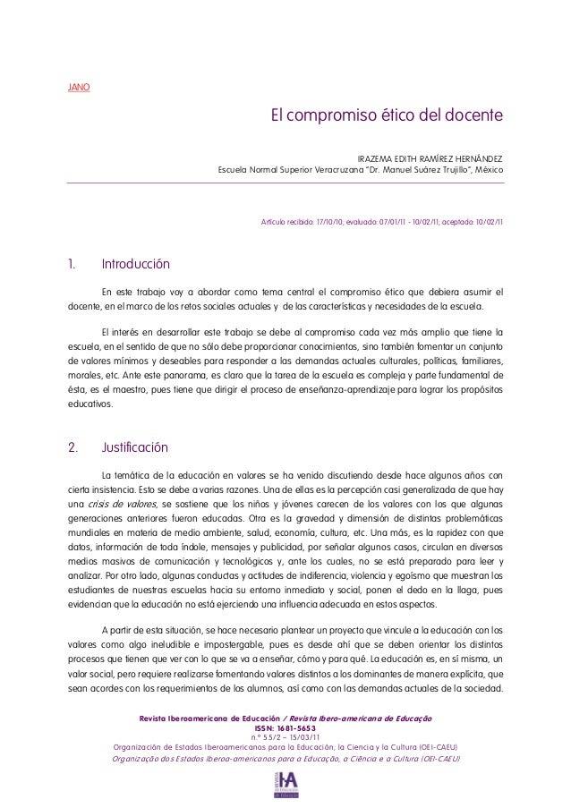 JANO                                                      El compromiso ético del docente                                 ...