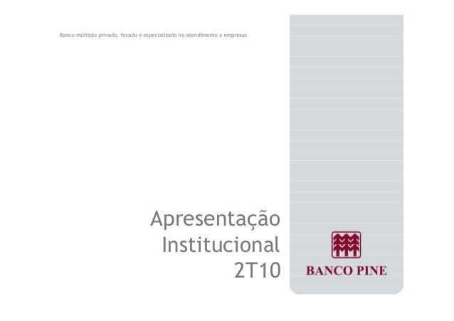 Apresentação  Institucional  2T10