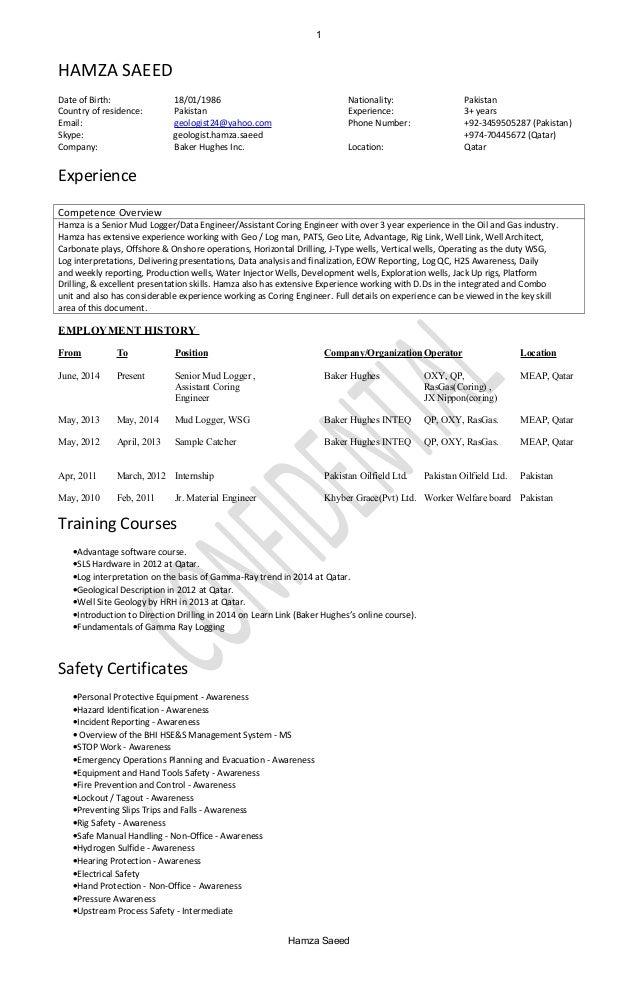 mudlogger resume