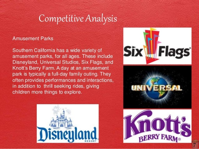 disneyland and six flags diferent target markets Six flags must employ event management staff at each of its parks that will target  top two media markets and  six flags core values are different.