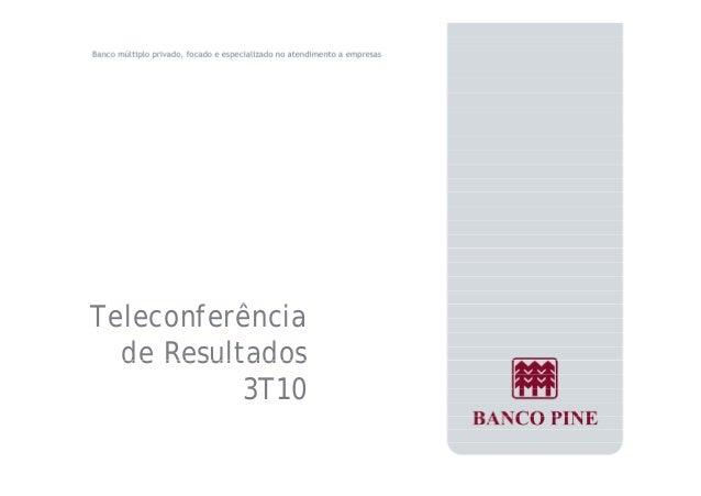 Teleconferência  de Resultados  3T10
