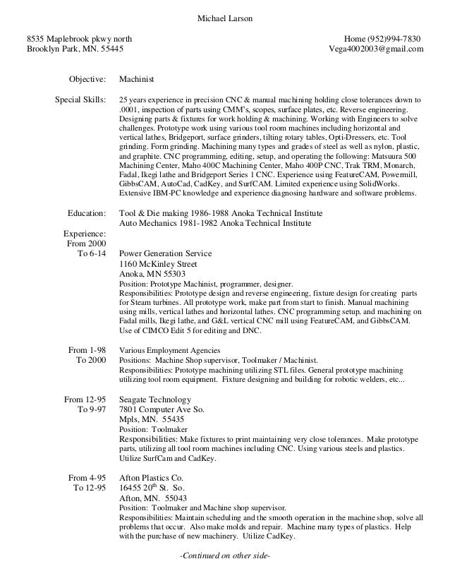 mike s resume w ref