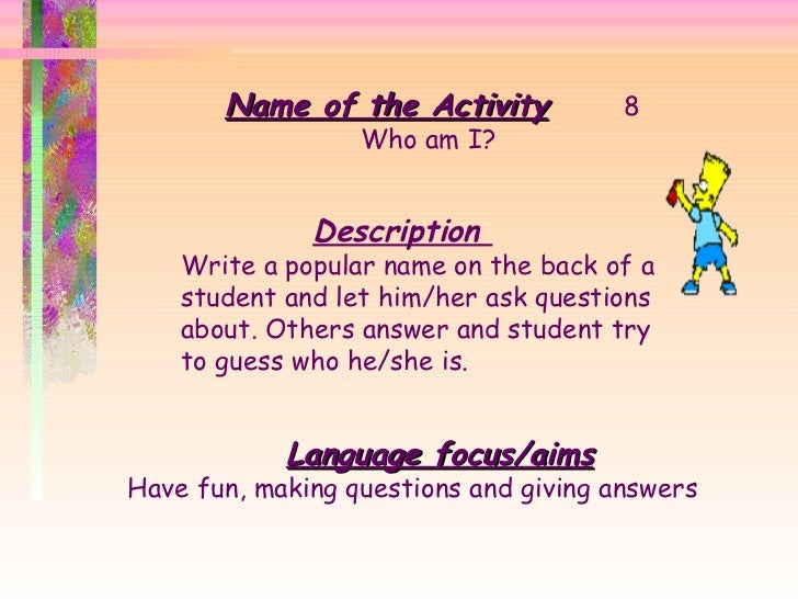 39 Activities for English Lesson