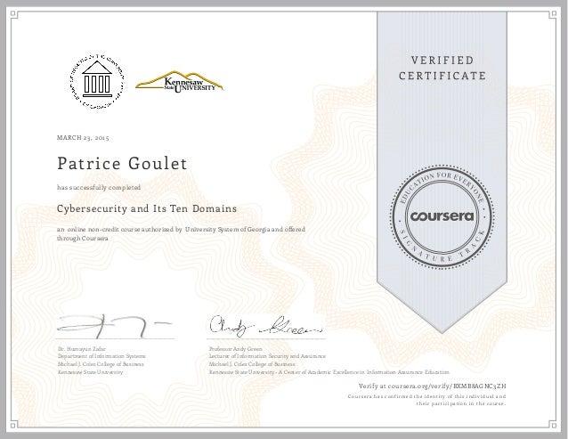 Coursera Cybersecurity Certificate