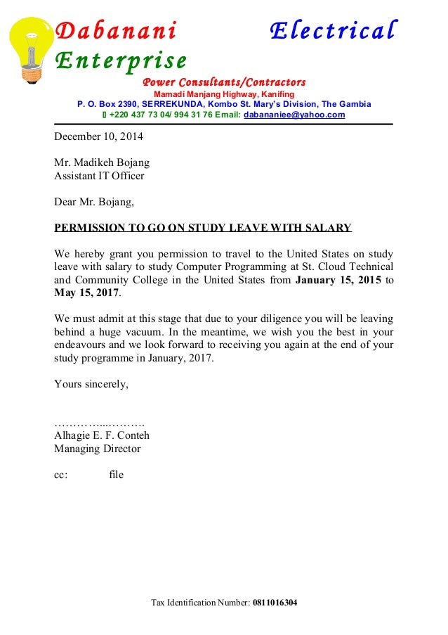 Letter Of Appointment Madikeh Bojang
