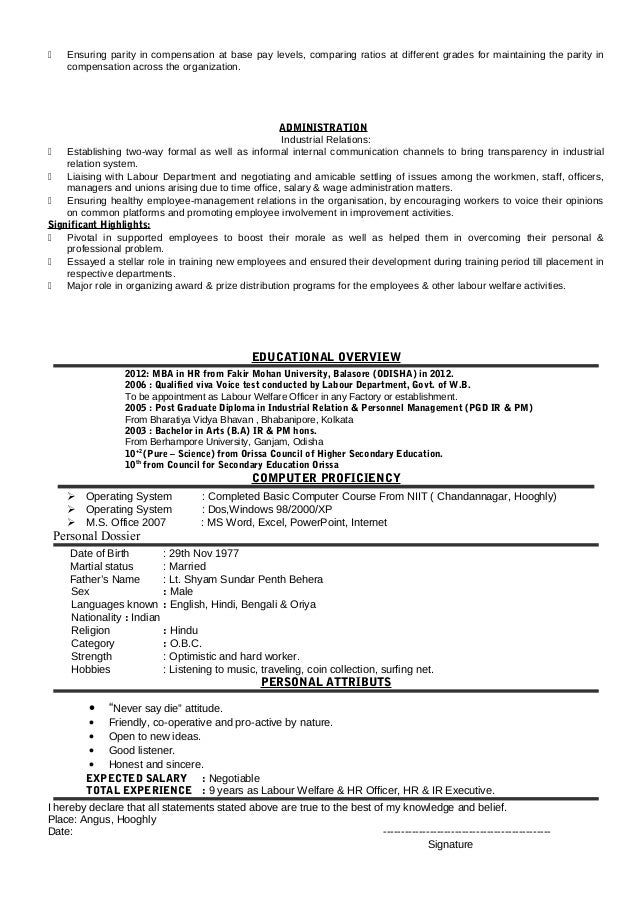 education welfare officer sample resume top 8 education welfare