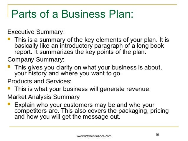 Components of writing a book summary