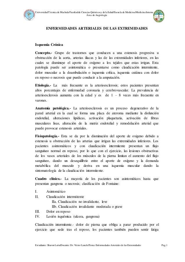 UniversidadTécnica de Machala/Facultadde Ciencias Químicas y de la Salud/Escuela de Medicina/MedicinaInterna Área de Angio...