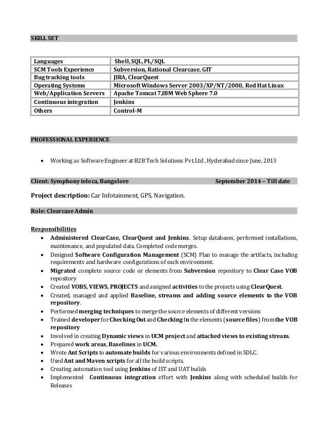 veeranji clearcase resume