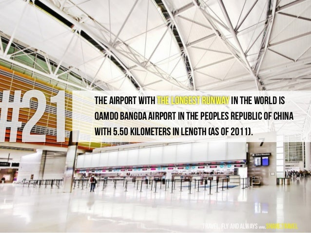 #21 The airport with the longest runway in the world is Qamdo Bangda Airport in the Peoples Republic of China with 5.50 ki...