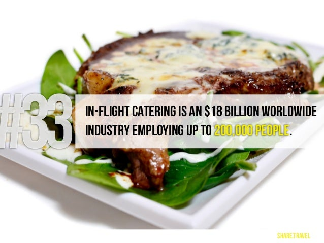#33In-flight catering is an $18 billion worldwide industry employing up to 200,000 people. travel, fly and always www.shar...