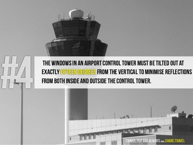 #4 The windows in an airport control tower must be tilted out at exactly fifteen degrees from the vertical to minimise ref...