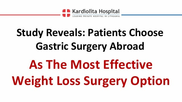 Study Reveals Patients Choose Gastric Surgery Abroad As The Most Effe