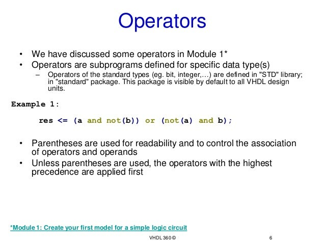 Data types and Operators Continued