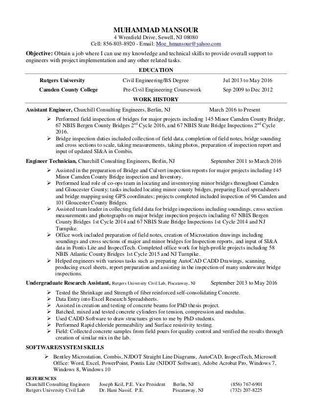 Muhammad Mansour Final Resume 7 22 16
