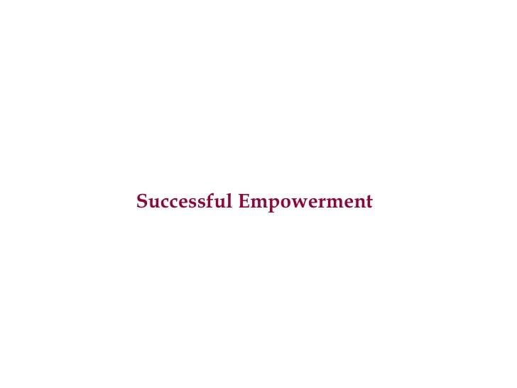 Successful Empowerment