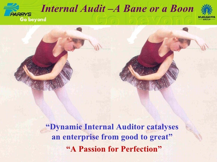 """ Dynamic Internal Auditor catalyses an enterprise from good to great"" Internal Audit –A Bane or a Boon "" A Passion for Pe..."
