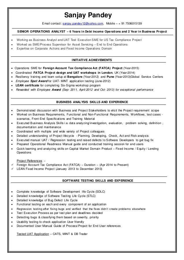 resume sanjay pandey banking operations and business analyst  3