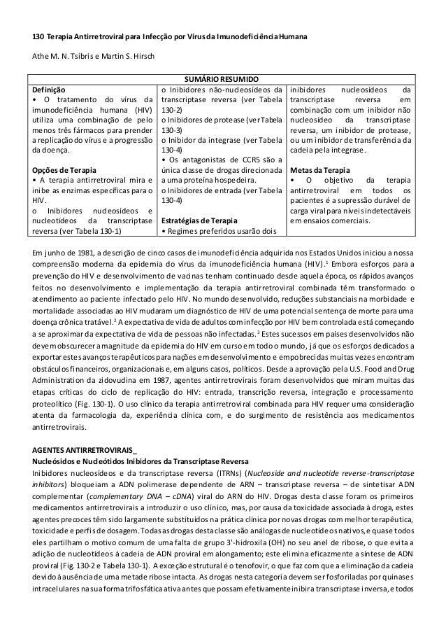 130 Terapia Antirretroviral para Infecção por Vírusda ImunodeficiênciaHumana Athe M. N. Tsibris e Martin S. Hirsch SUMÁRIO...
