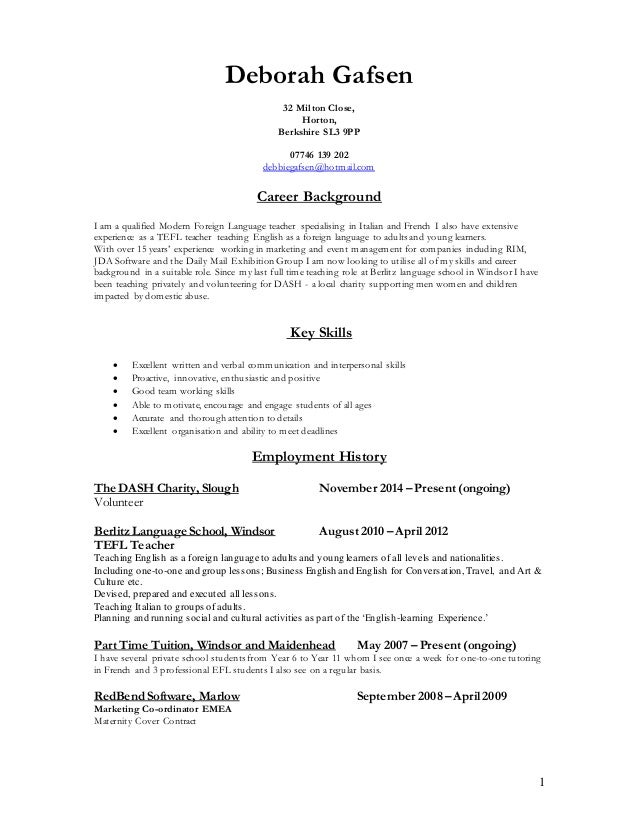 primary teacher cv thevillas co