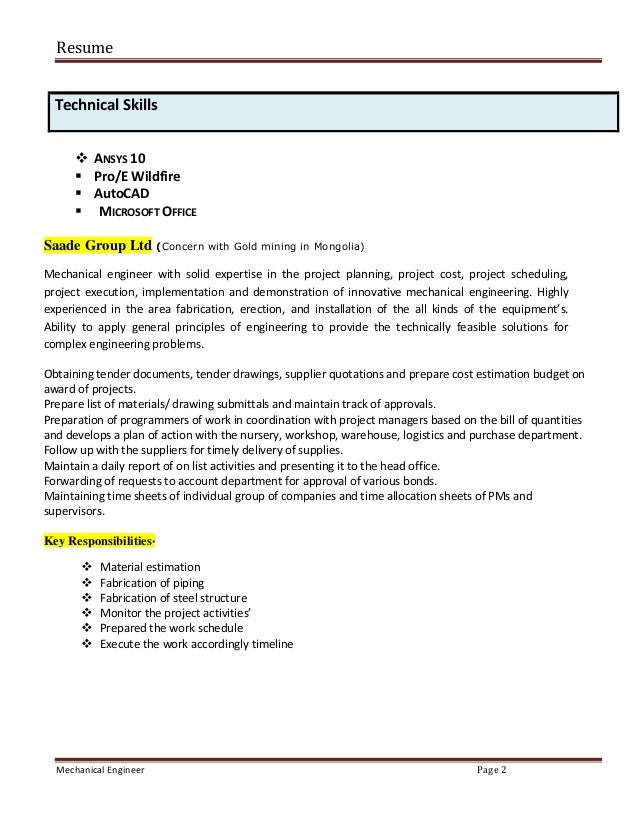 It Technical Skills Resume