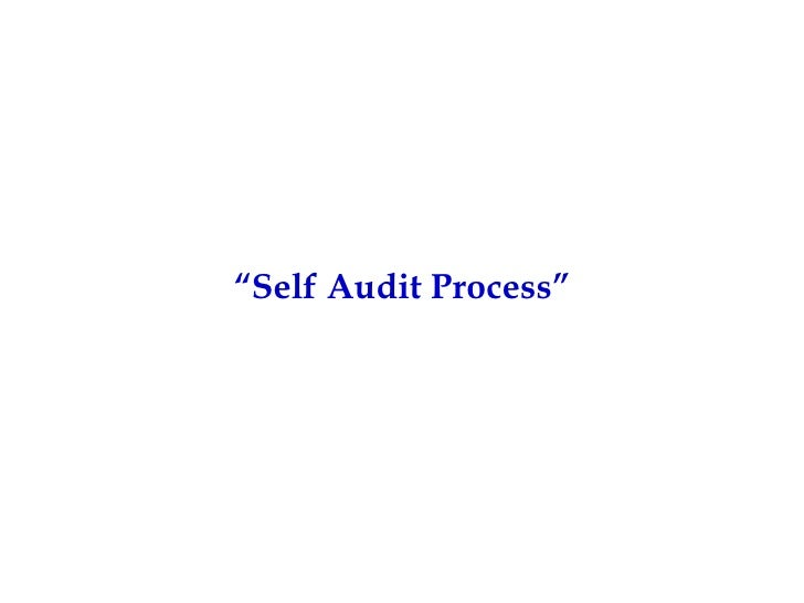 """ Self Audit Process"""